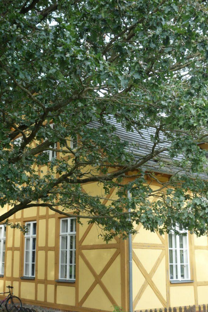 Gelbes Fachwerkgebäude Glashütte