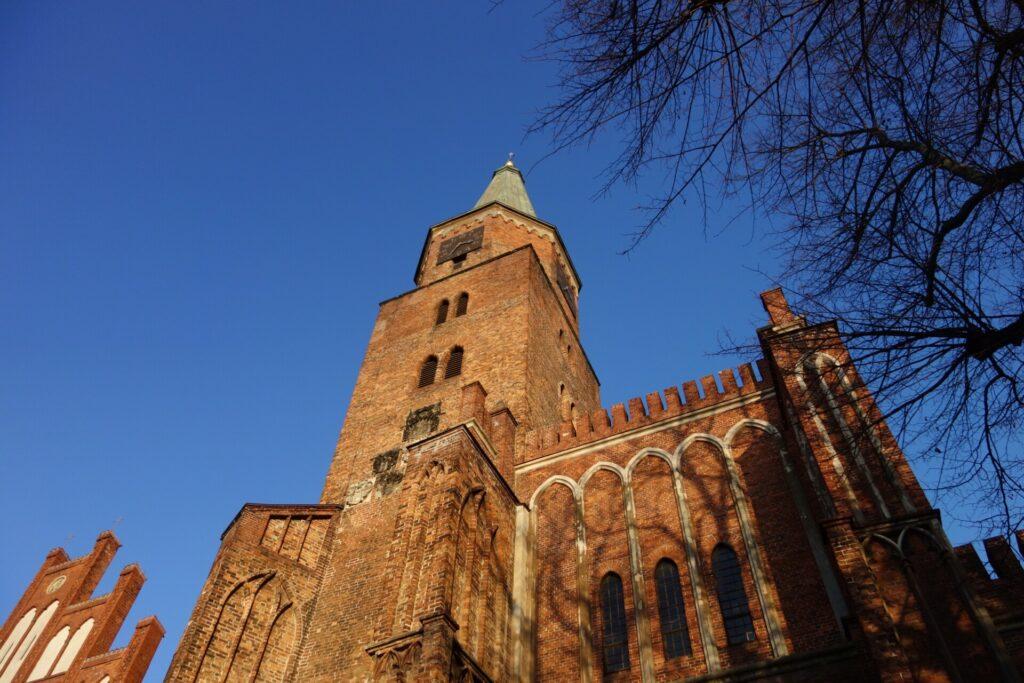 Brandenburg, Dom. Frontansicht mit Turm