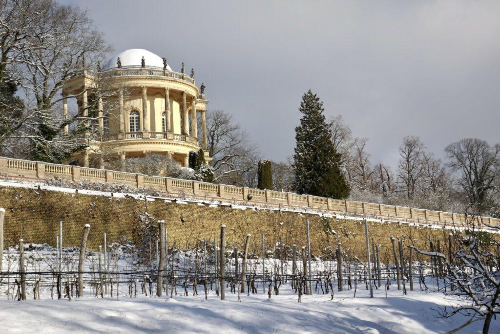 Belvedere im Park Sanssouci über dem Weinberg