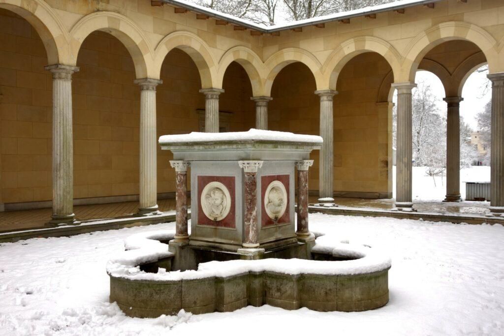 Sanssouci. Ein sorgloser Winterspaziergang im Park von Potsdam.