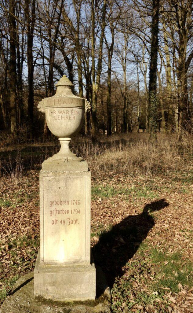 Denkmal für den Lehrer Bruns in Reckahn