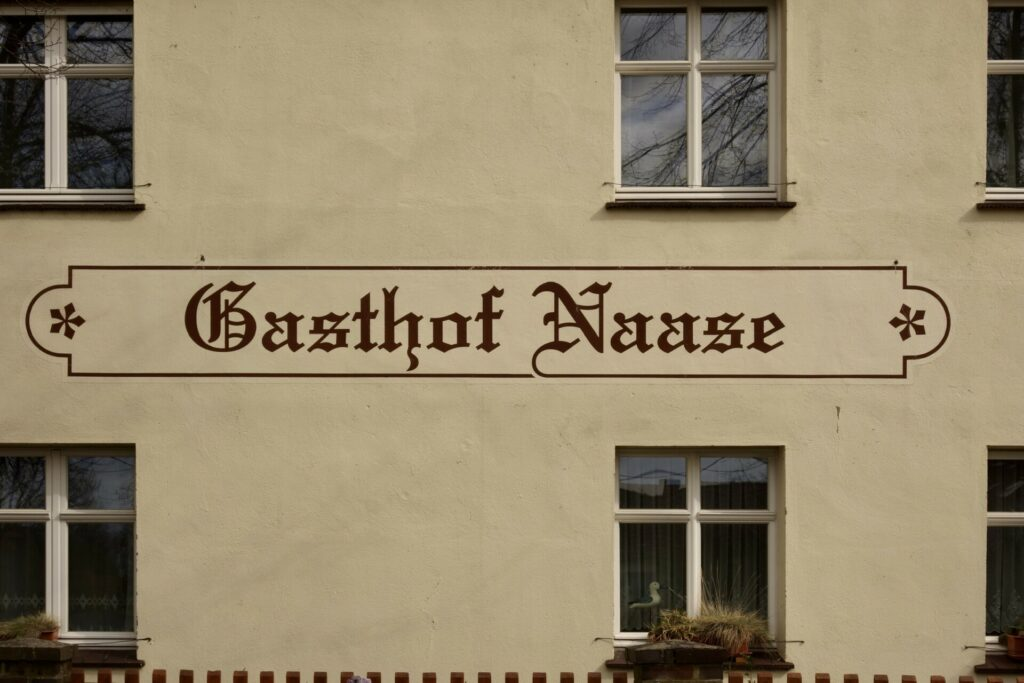 Gröben. Ein echter Kietz und der Drehort Krauses Gasthof.