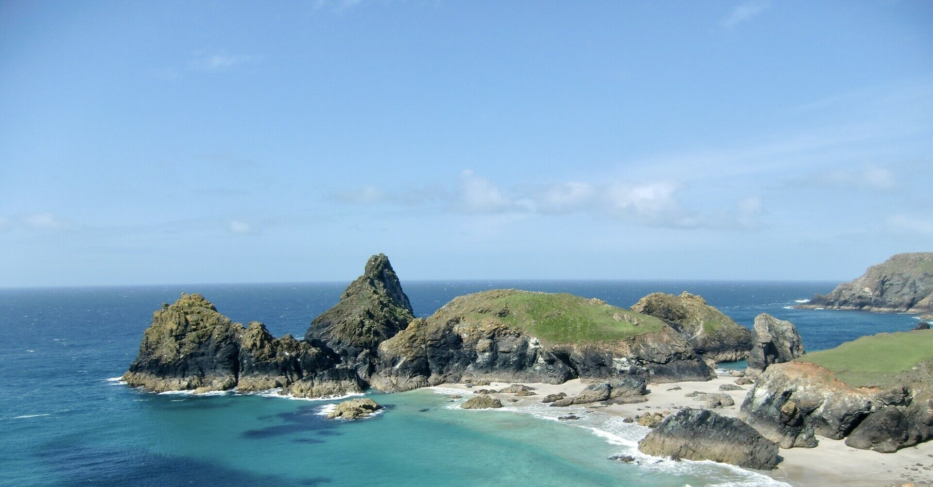 Lizard, Cornwall. Eine Wanderung zum südlichsten Punkt Englands.