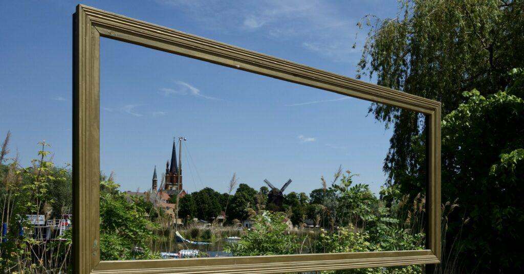 Stadtansicht auf Werder